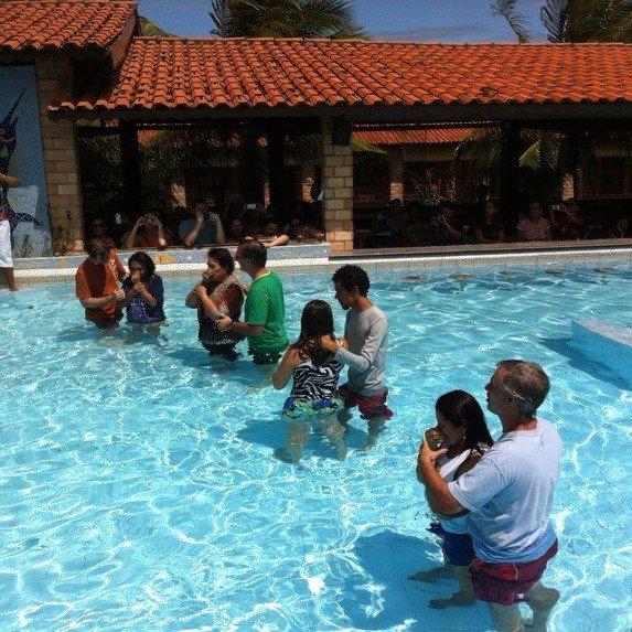 Baptisms at women's seminar